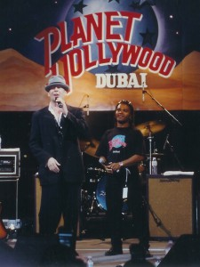 The opening of Planet Hollywood Dubai.